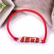 Natural Italian Coral stick bracelet
