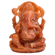 Natural Sunstone Ganesha - 819 gms