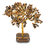 Natural Tiger Eye Chakra Vastu Tree - Big