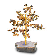 Natural Tiger Eye Chakra Vastu Tree - Small