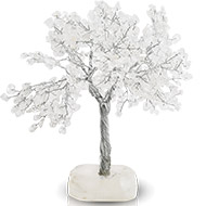 Natural White Crystal Chakra Vastu Tree - Big