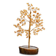 Natural Yellow Jade Chakra Vastu Tree - Small