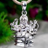 Nav Durga Locket in pure silver