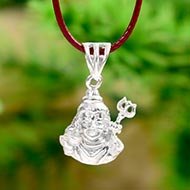 Neelkanth Shiva locket in silver
