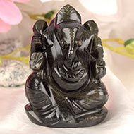 Obsidian Ganesha - 113 gms