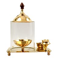 Indian Brass Oil Lamp for Pooja