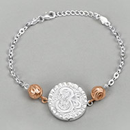 OM design Rakhi in pure silver - II