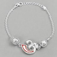 OM design Rakhi in pure silver - III