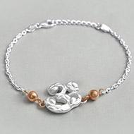 OM design Rakhi in pure silver - IV