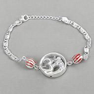 OM design Rakhi in pure silver - VI