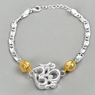 OM design Rakhi in pure silver