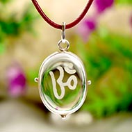 OM Locket in Crystal