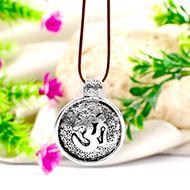 Om Locket in Pure Silver - Design I