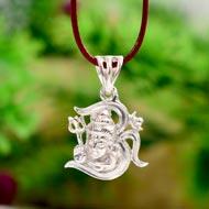 Om Shiva Locket in Pure Silver - Design II