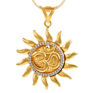 Om Surya Pendant in Gold - 3.7 gms