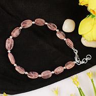 Oval Rose Quartz Bracelet - Design I