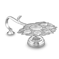 Paanch Aarti oil lamp in pure silver - Big