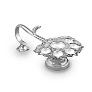 Paanch Aarti oil lamp in pure silver - Small