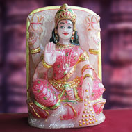 Padmasundari Rose quartz Laxmi idol