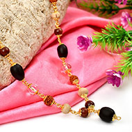 Panch Bhoota Mala in copper gold polish