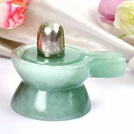 Parad Lingam with Green Jade Yonibase - IX