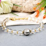 Parad Sphatik bracelet in copper gold polish chakri