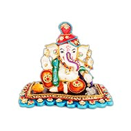 Peshwa Ganesh in diamond ornaments