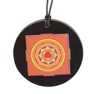 Pratyangira Yantra locket on Rosewood