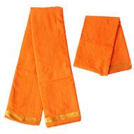 Puja Dhoti with Shawl - Orange