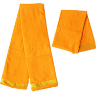 Puja Dhoti with Shawl - Saffron