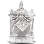 Puja Mandir - Aluminum Silver