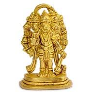 Panchmukhi Hanuman Idol in Brass