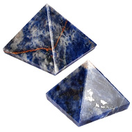 Pyramid in Blue Sodalite - Communication and ..