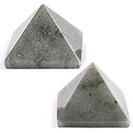 Pyramid in Grey Agate - Set of 2