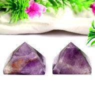Pyramid in Natural Amethyst - Set of 2 - 42 gms