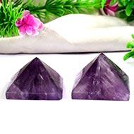 Pyramid in Natural Amethyst - Set of 2 - 51 gms
