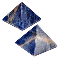 Pyramid in Natural Blue Sodalite - Set of 2
