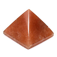 Pyramid in Natural Orange Jade - 93 gms