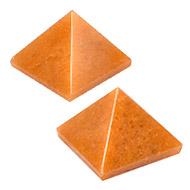Pyramid in Natural Orange Jade - Set of 2 - I