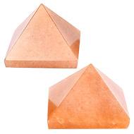Pyramid in Natural Orange Jade - Set of 2