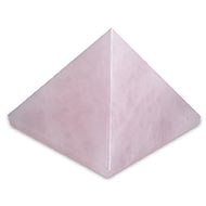 Pyramid in natural Rose Quartz - 79 gms