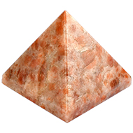 Pyramid in Natural Sunstone - 152 gms