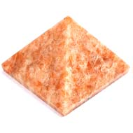 Pyramid in Natural Sunstone - 156 gms