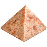 Pyramid in Natural Sunstone - 166 gms