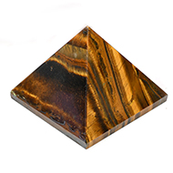 Pyramid in Natural - Tiger Eye