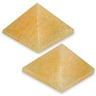 Pyramid in Natural Yellow Jade - Set of 2 - II