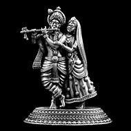 Radha Krishna in pure silver