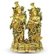 Radhe Krishna in Brass - III