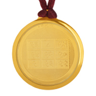 Rahu with Chinmastika Devi Yantra Locket - Gold Plated