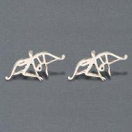 Ram earrings in pure silver